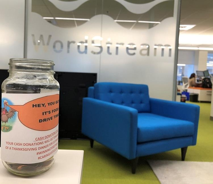 WordStream Thanksgiving fundraising