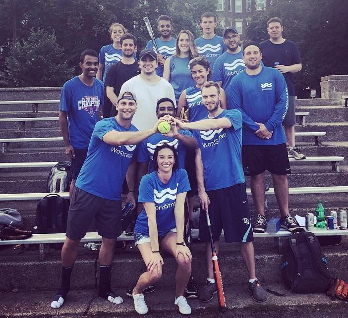 WordStream's champion softball team