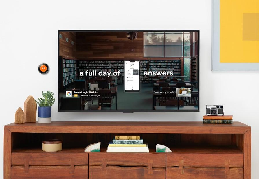 YouTube ads with TV screen placement option