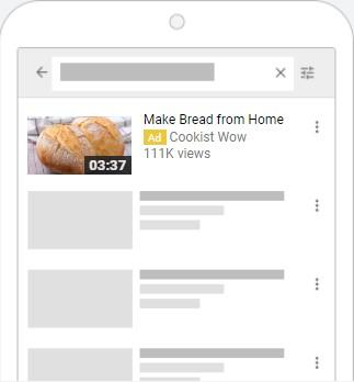 YouTube advertising bread ad