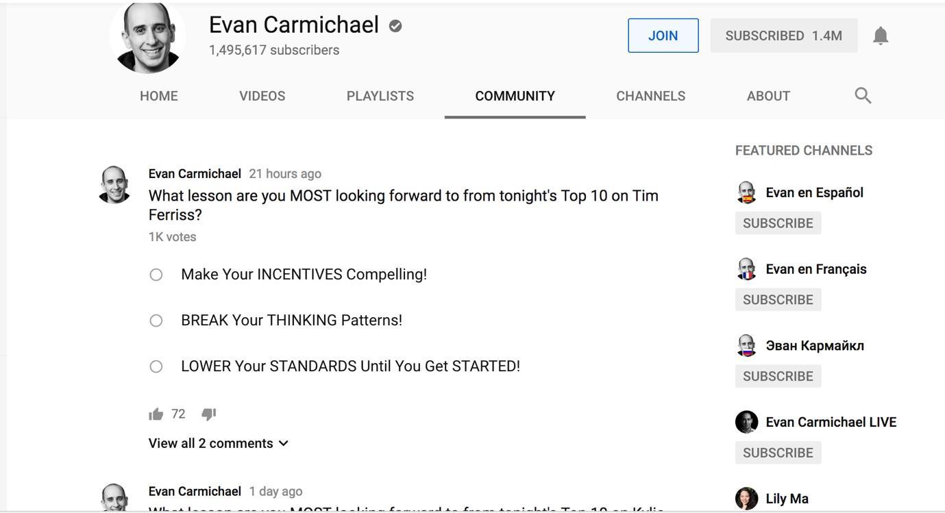 YouTube marketing Evan Carmichael
