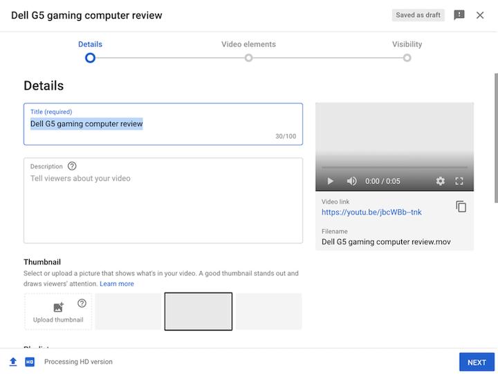 dicas de SEO do YouTube - guia de descrição