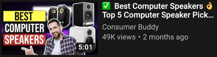 dicas de SEO do YouTube - exemplo de uma boa miniatura personalizada