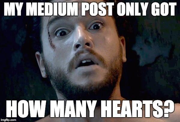 Medium optimization tips Jon Snow resurrected Game of Thrones