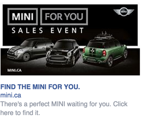 mini display ad