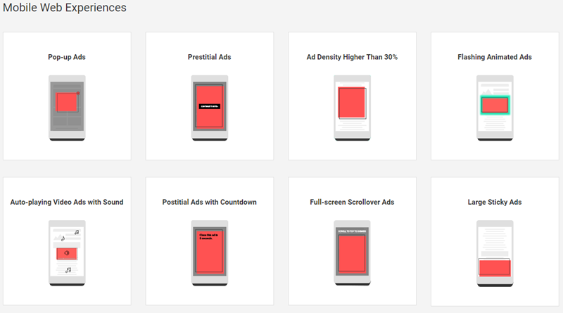 mobile ad formats blocked by chrome ad filter