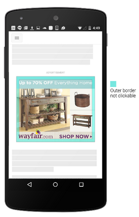 Mobile clicks example of the border of the image where now you won't be able to click