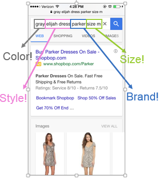 i know what i want mobile converting keyword