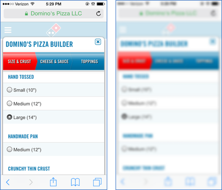 dominos example step 2
