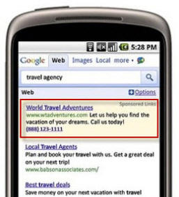 Mobile PPC Ad