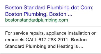 mobile organic listing plumber
