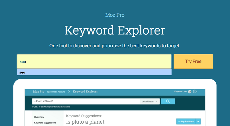Test Driving the New Keyword Explorer Tool from Moz | WordStream