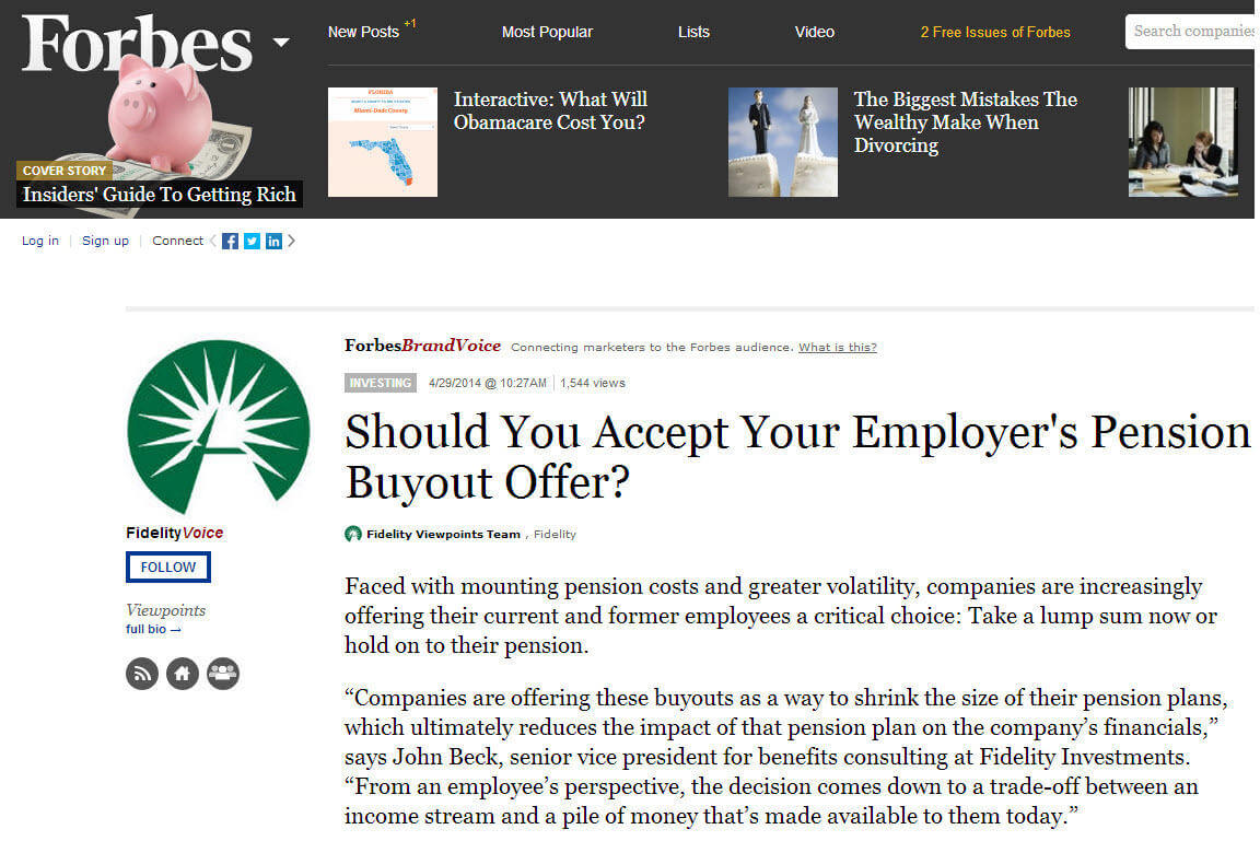 Native advertising examples Forbes promoted post