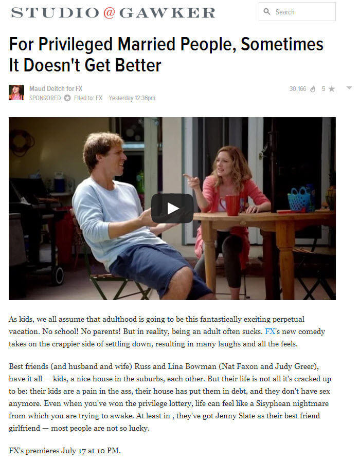 Native advertising examples new Gawker sponsored posts