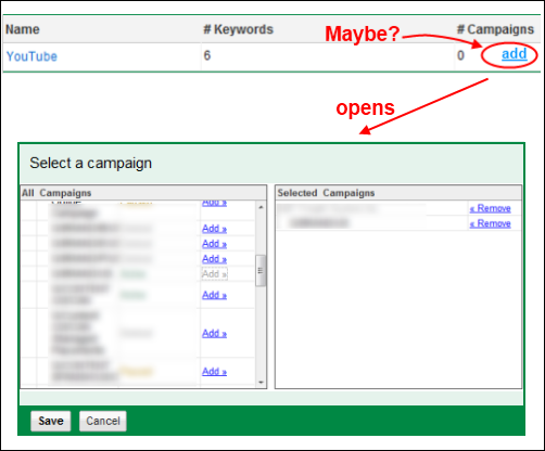 adwords negative keyword lists
