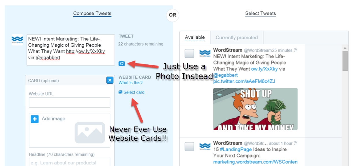 the problem with twitter lead generation cards