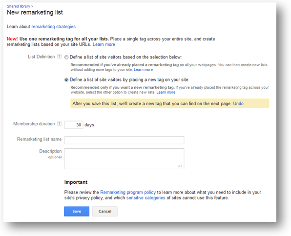 AdWords Remarketing Tips