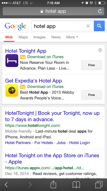 New AdWords tools download apps from ads