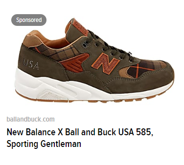 new balance luxury brand dynamic remarketing ad