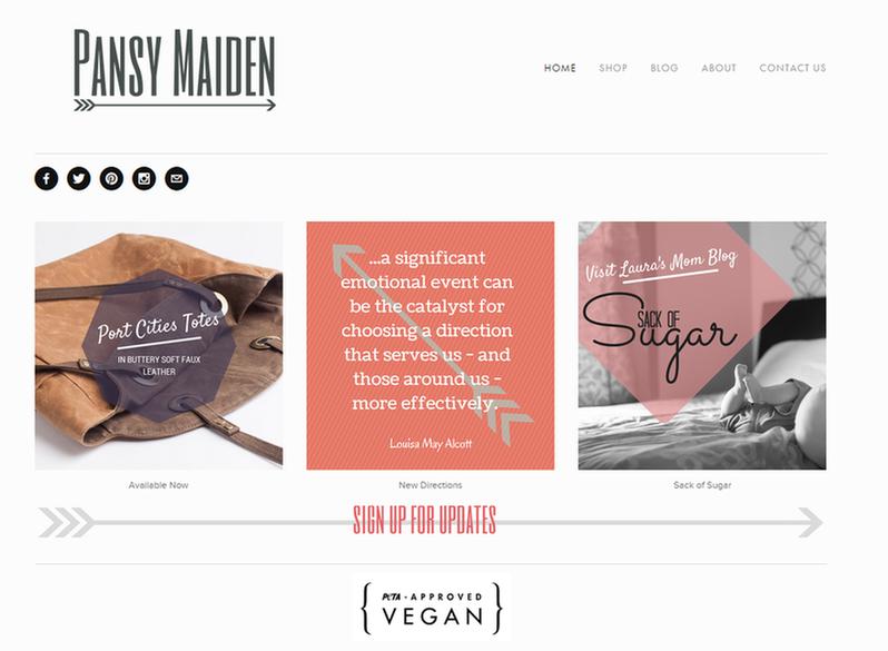 Niche marketing Pansy Maiden bags