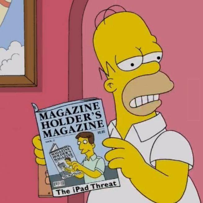 Niche marketing Homer Simpson magazine holder's magazine