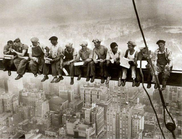 construction workers in the 1930s