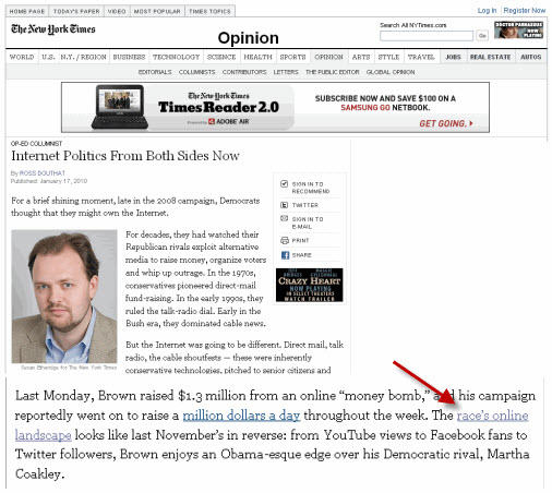 New York Times link bait, how to get a link from nytimes, link bait generator