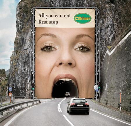 Tunnel ad creative