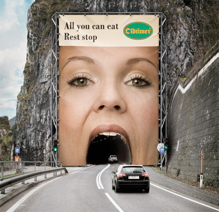 Tunnel ad creative