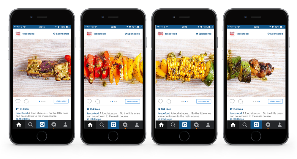 Online advertising costs Instagram ad creative examples