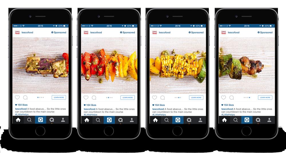Online advertising costs Instagram ad creative examples