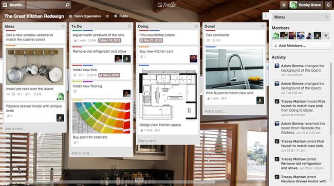 Online marketing tools Trello