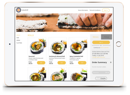Online ordering for restaurant marketing
