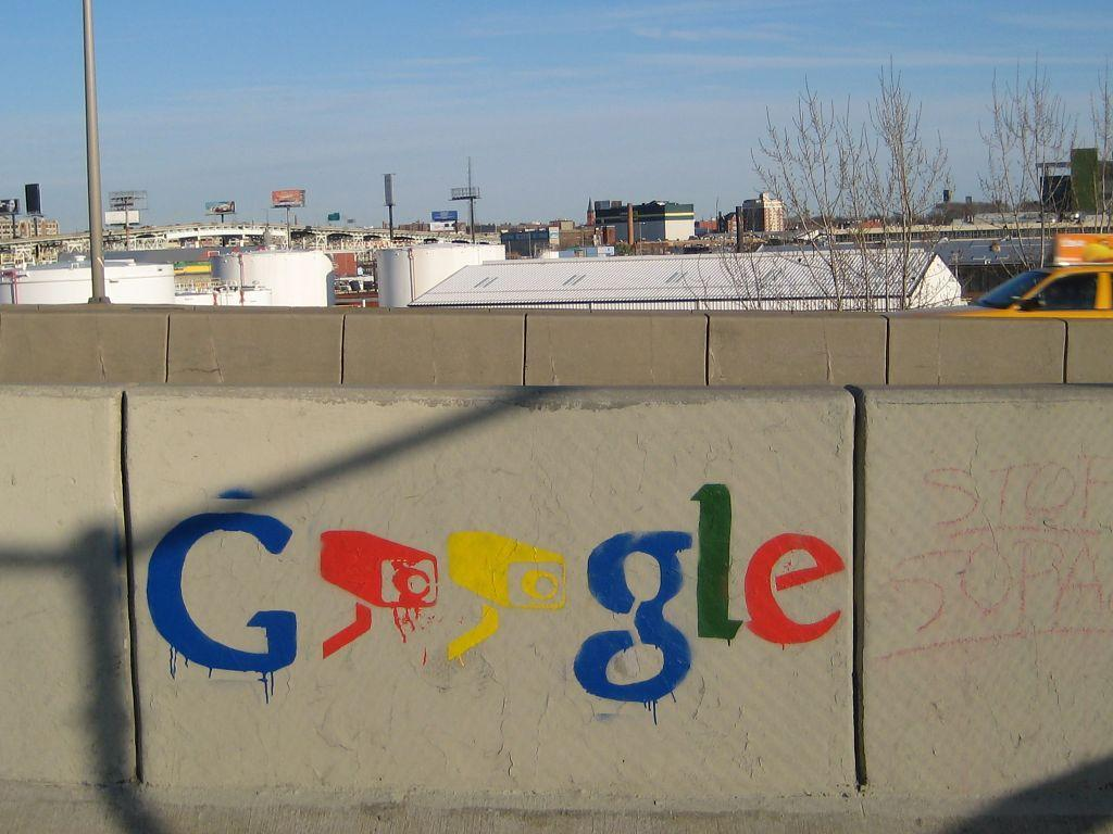Online privacy Google surveillance graffiti