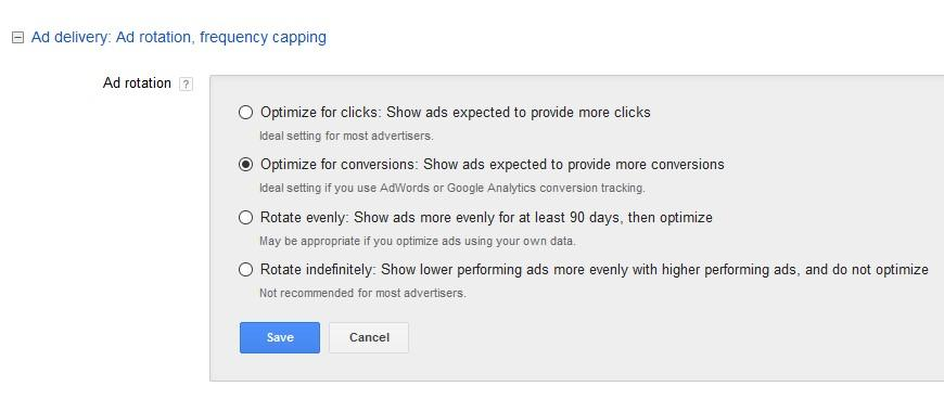 ad rotation settings best practices
