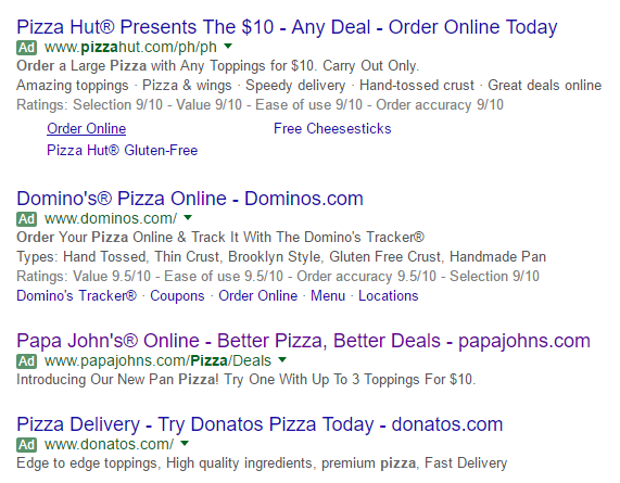 relevant PPC landing pages