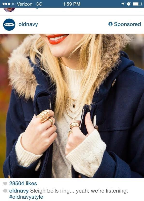 New paid ad features screenshot of sponsored Old Navy Insta post