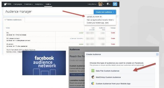 Paid social media custom audiences