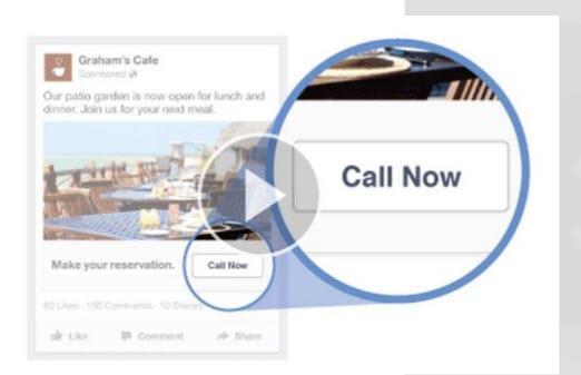Paid social media Facebook call button