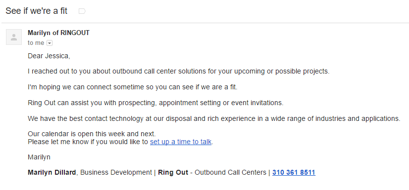 personalized email cta