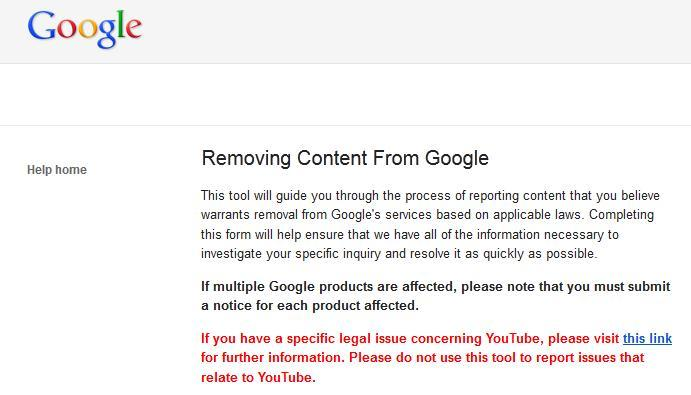 Google has tools to help webmasters with copyright infringing material