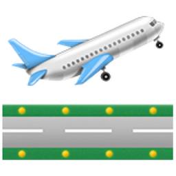 plane taking off emoji