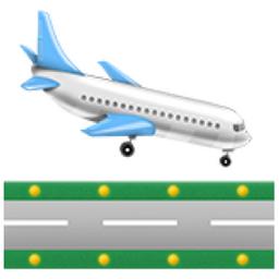 plane landing emoji