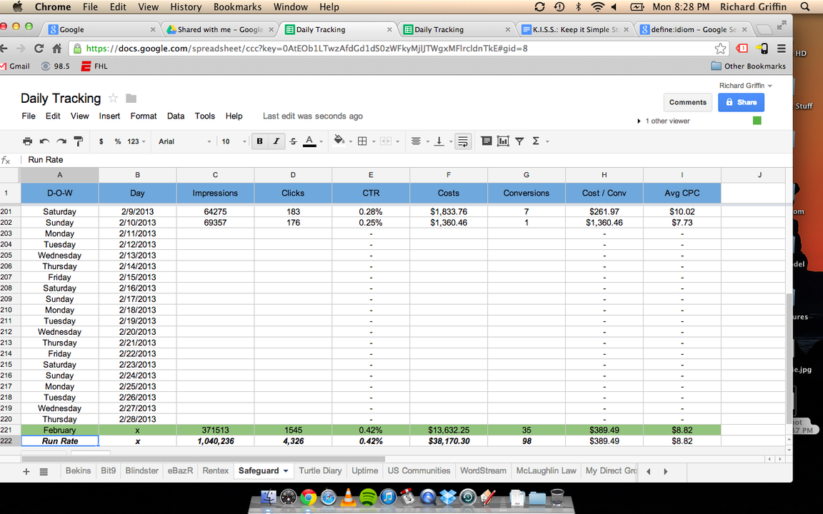 PPC Account Tracking