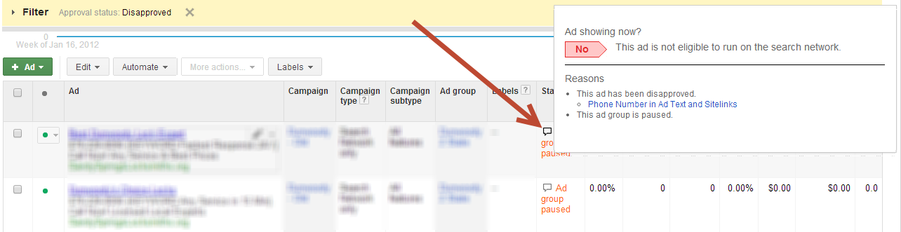 adwords ad writing templates