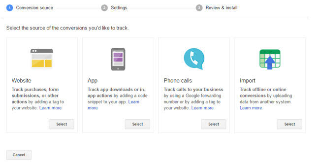 conversion tracking adwords