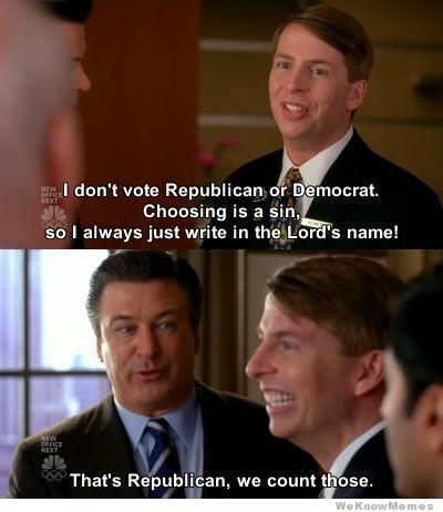 PPC budget 30 Rock don't vote Republicans count those