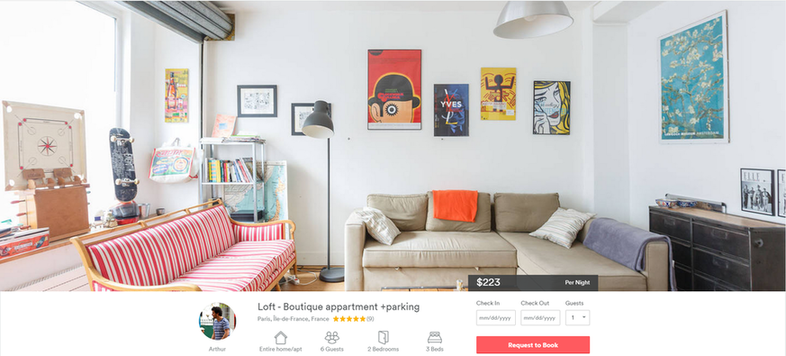 Principles of economics Airbnb example property