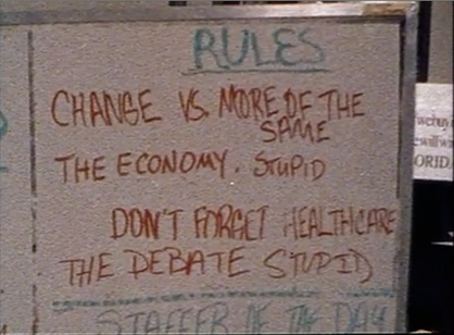 Principles of economics It's The Economy Stupid Clinton War Room 1992