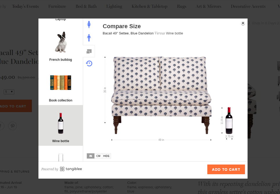 Product pages example of context